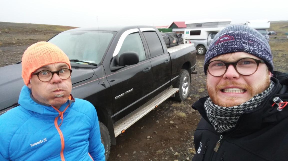Vader en zoon opIJsland